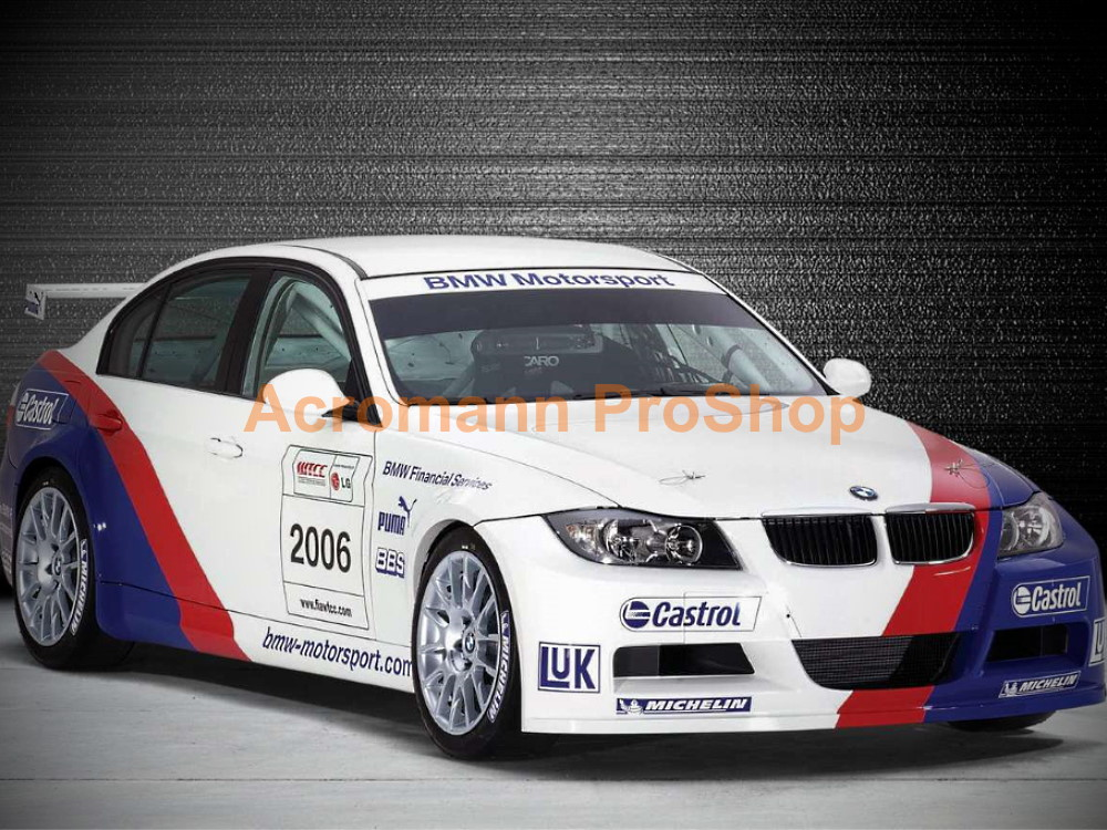 BMW E90 320si WTCC 2006 Bonnet Fender Decals Sticker Livery Kit